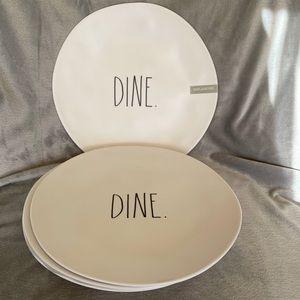 Rae Dunn 4 Dine Melamine Plates